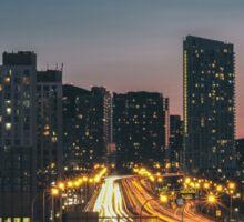Toronto Road At Night Sticker
