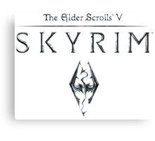 Skyrim The Elder Scrolls V Canvas Print