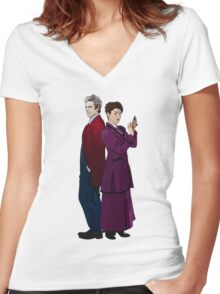 Missy and The Doctor Women's Fitted V-Neck T-Shirt