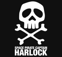 Captain Harlock Skull Pirate Logo Jolly Roger One Piece - Short Sleeve