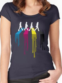Abbey CMYK Women's Fitted Scoop T-Shirt