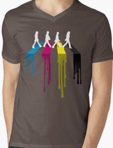 Abbey CMYK Mens V-Neck T-Shirt