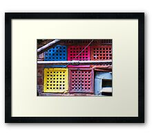 bricks in colour Framed Print