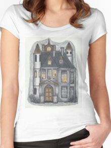pendle hall gatehouse Women's Fitted Scoop T-Shirt