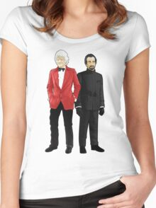 Doctor Who - Third Doctor and The Master Women's Fitted Scoop T-Shirt