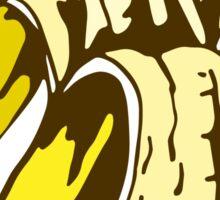 illustration of half peeled banana Sticker