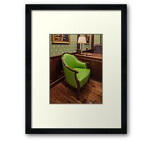 comfortable green chair Framed Print