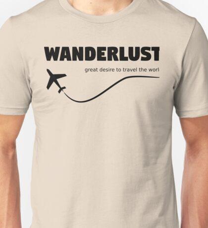 Wonderlust Travel the World Unisex T-Shirt