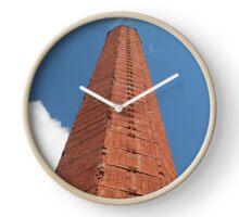 hexagon industrial  smokestack Clock