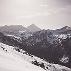 Snow capped mountains by ewkaphoto