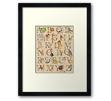 ABC Animals (with names) Framed Print