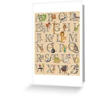 ABC Animals (with names) Greeting Card