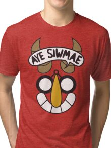 Aye Siwmae - Helm of Goofy Smiles Tri-blend T-Shirt