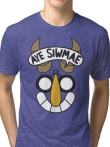 Aye Siwmae - Helm of Goofy Smiles Tri-blend T-Shirt