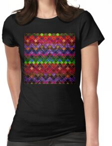 Stained Glass Mosaic Pattern Abstract Art Womens Fitted T-Shirt