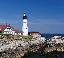 Portland Headlight - Maine by Robert Kelch, M.D.