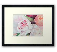 Peony Bouquet Framed Print