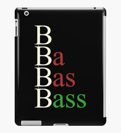 Bass steps iPad Case/Skin
