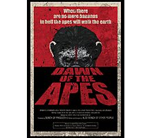 Dawn of the Apes poster parody Photographic Print