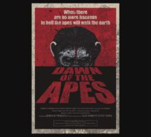Dawn of the Apes poster parody T-Shirt