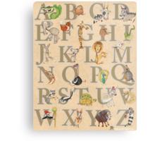 Animal ABCs Metal Print