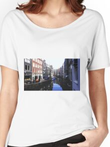 Amsterdam Canal (Cutout) Women's Relaxed Fit T-Shirt