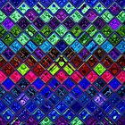Stained Glass Mosaic Pattern Abstract Art #2 by Nhan Ngo