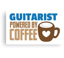 Guitarist powered by coffee Canvas Print