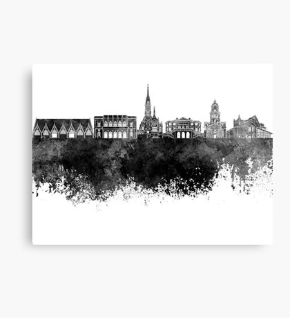 Gothenburg skyline in black watercolor Canvas Print