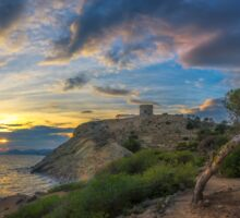 Sunset at Malladeta - panorama Sticker