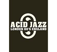 Acid jazz london white color Photographic Print