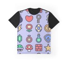 Videogame Game Pattern Graphic T-Shirt