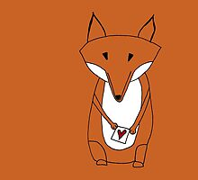 Mr. Fox Loveletter by annaillustrates