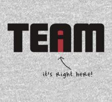 """i"" in Team Kids Tee"