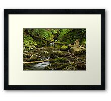 Poulanass waterfall & river , Glendalough. Framed Print