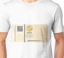 Bitcoin banknote new Unisex T-Shirt
