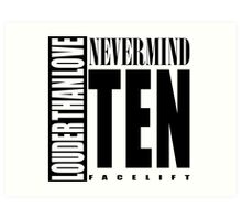 Nevermind Ten Facelift Louder than the Sound Grunge albums White version Art Print