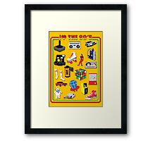 I LOVE THE 80'S Framed Print