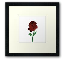 Rose of beauty and the beast Framed Print