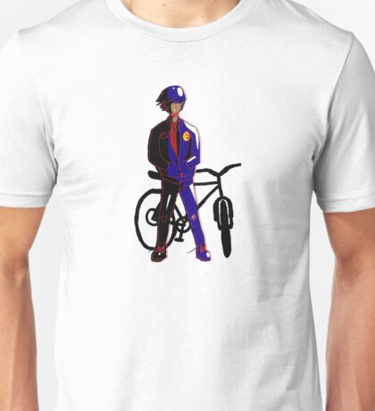 Biker With a Normal Bike and a Bomb(er) Jacket Unisex T-Shirt