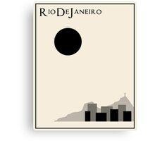 Rio De Janeiro Minimalist Travel Poster - Beige Version Canvas Print