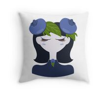 Blueberry character illustration Throw Pillow