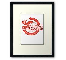 Flying Courier Framed Print