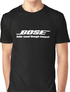 Bose White  Graphic T-Shirt