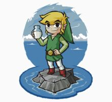 Zelda Wind Waker Bottle of Milk One Piece - Short Sleeve