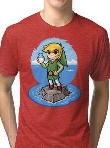 Zelda Wind Waker Bottle of Milk Tri-blend T-Shirt