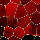 Stained Glass Polygons (Red & Gold) by Helmar Designs