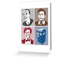 Doctor Who and Tardis Greeting Card