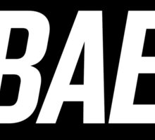 Bae 3 (Black) Sticker