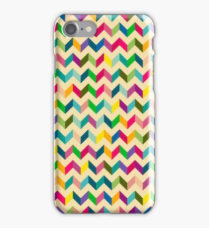 Retro Zig Zag Colorful iPhone Case/Skin